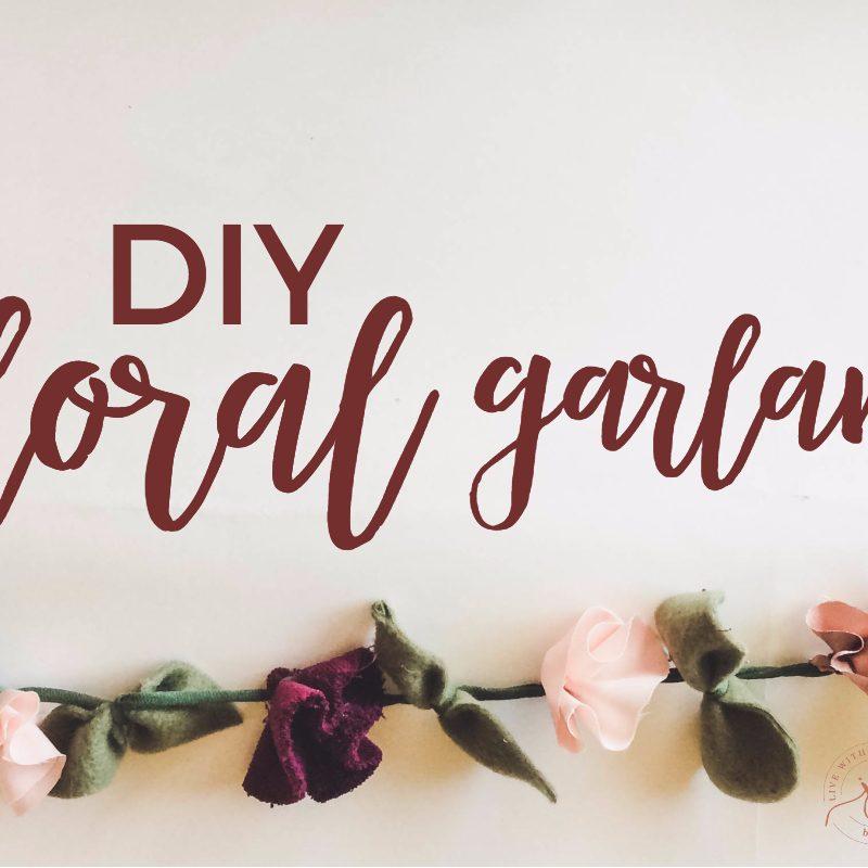 DIY: Easy Fabric Floral Garland