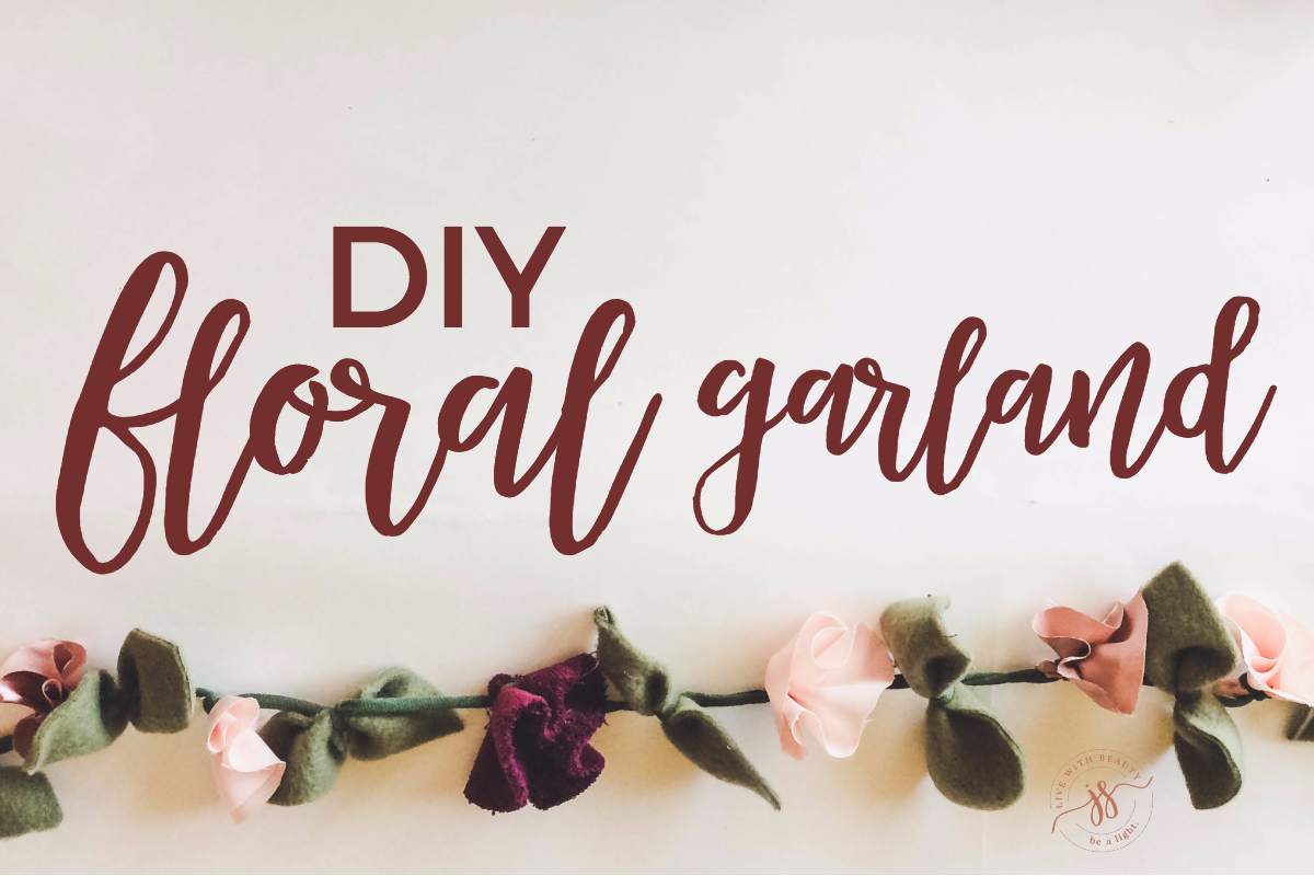DIY: Easy Fabric Floral Garland